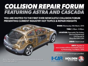 Holden Collision Website - Event Launch Invitation (Newcastle)