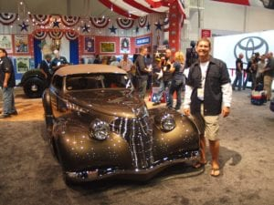 Charley Hutton and his Ridler award winning car