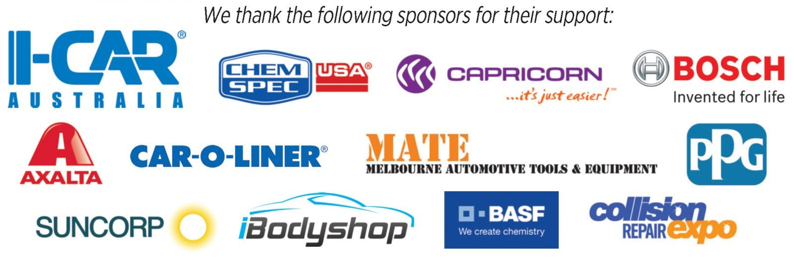NCR Symposium sponsors