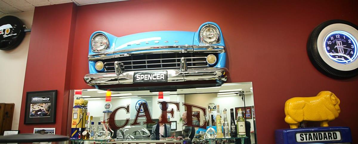 NCR Spencer panels cafe