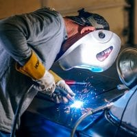 NCR welding car panel