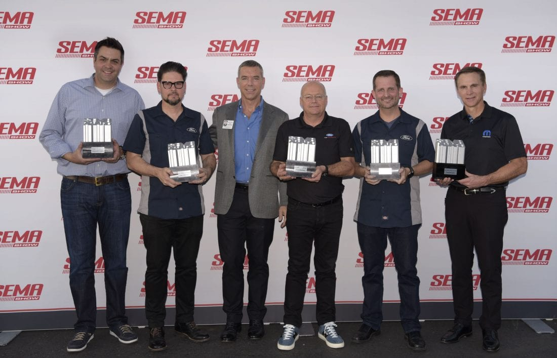 Winners of the Vehicle of the year award SEMA 2018