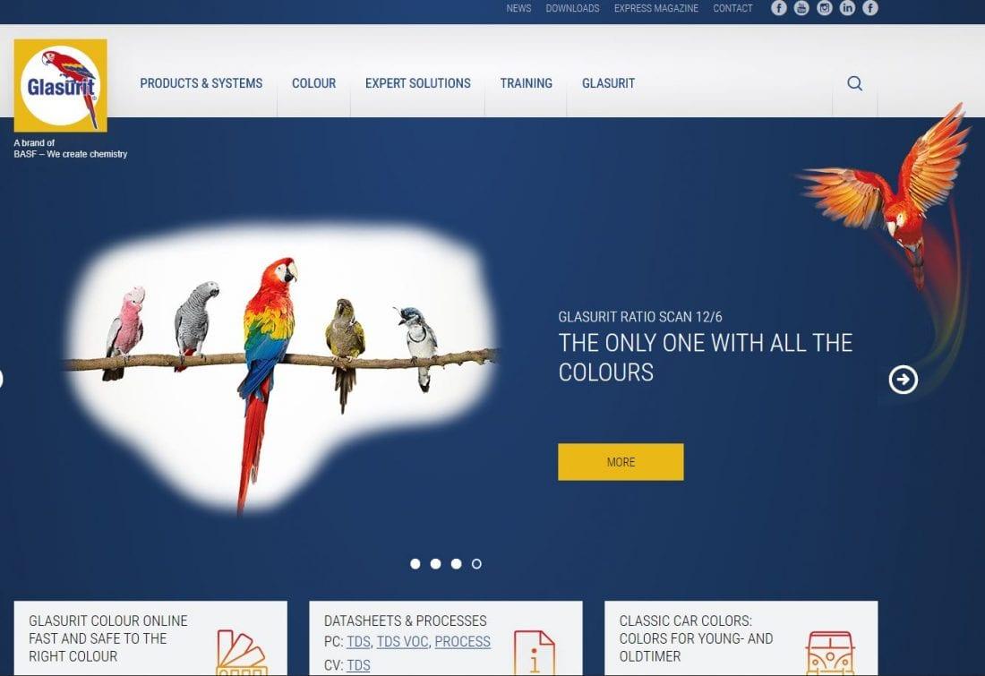 NCR Glasurit Website