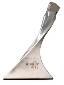 NCR GM Supplier of the year award
